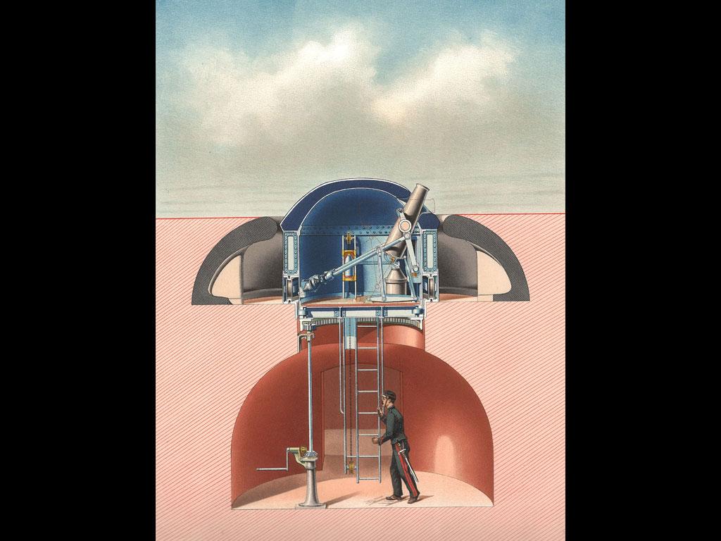 affiche publicitaire schneider pour tourelle artillerie