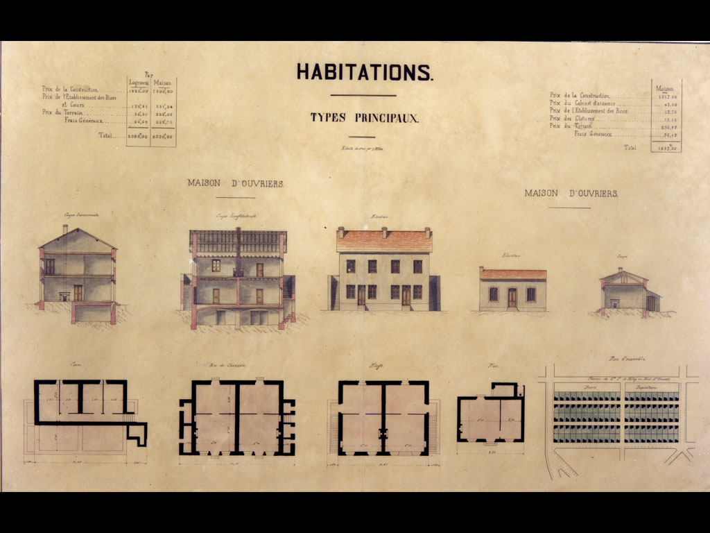 plan d'habitations